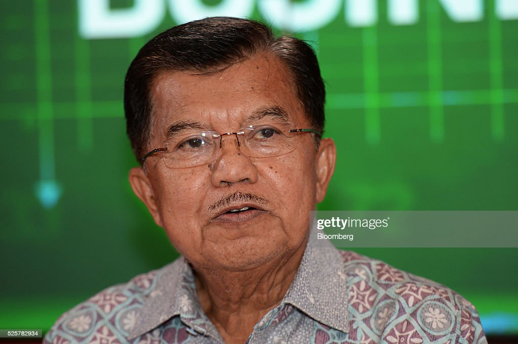 Jusuf Kalla, Indonesia's vice president, speaks during the AIC World Congress conference in Jakarta, Indonesia, on Friday, April 29, 2016. Kalla expects gross domestic product (GDP) to expand more than 5 per cent this year. Photographer: Dimas Ardian/Bloomberg via Getty Images