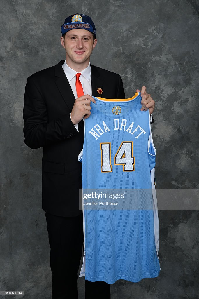 Jusuf Nurkic, aquired via trade by the Denver Nuggets, poses for a portrait during the 2014 NBA Draft at the Barclays Center on June 26, 2014 in the Brooklyn borough of New York City.