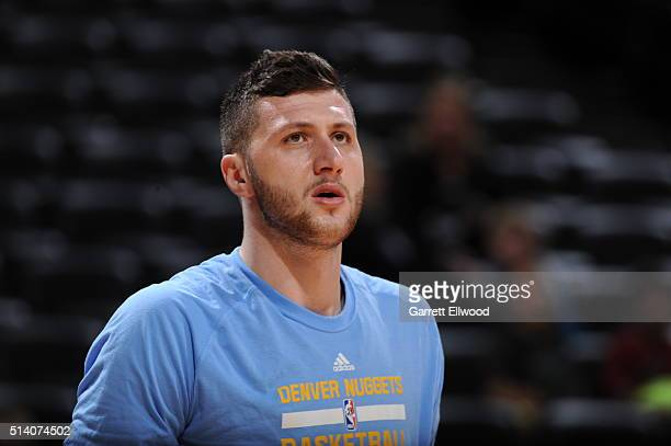 Jusuf Nurkic of the Denver Nuggets is seen before the game against the Dallas Mavericks on March 6 2016 at the Pepsi Center in Denver Colorado NOTE...