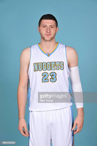 Jusuf Nurkic of the Denver Nuggets pose for portraits during NBA Media Day on September 23 2014 at the Pepsi Center in Denver Colorado NOTE TO USER...