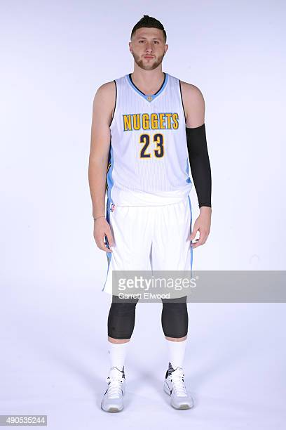 Jusuf Nurkic of the Denver Nuggets poses for a portrait on September 28 2015 at the Pepsi Center in Denver Colorado NOTE TO USER User expressly...