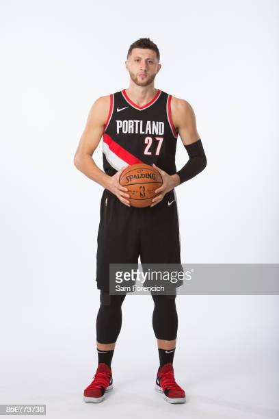 Jusuf Nurkic of the Portland Trail Blazers poses for a portrait during the 201718 NBA Media Day on September 25 2015 at the Moda Center in Portland...