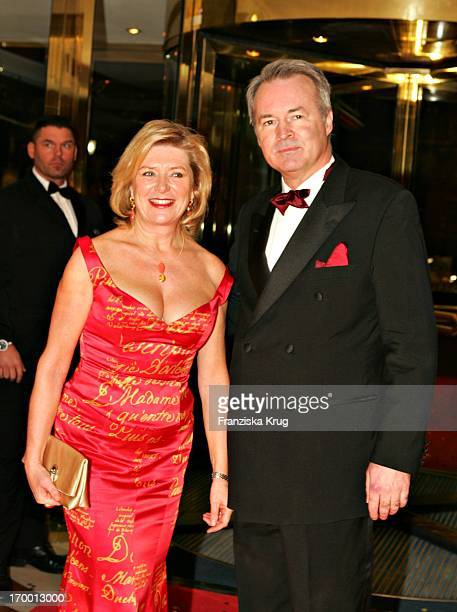 Jutta Speidel and Thomas Fritz At the arrival to German Film Ball in the Hotel Bayerischer Hof in Munich