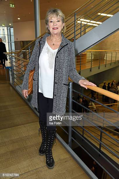 Jutta Speidel attends the FairPlay Party on February 14 2016 in Berlin Germany