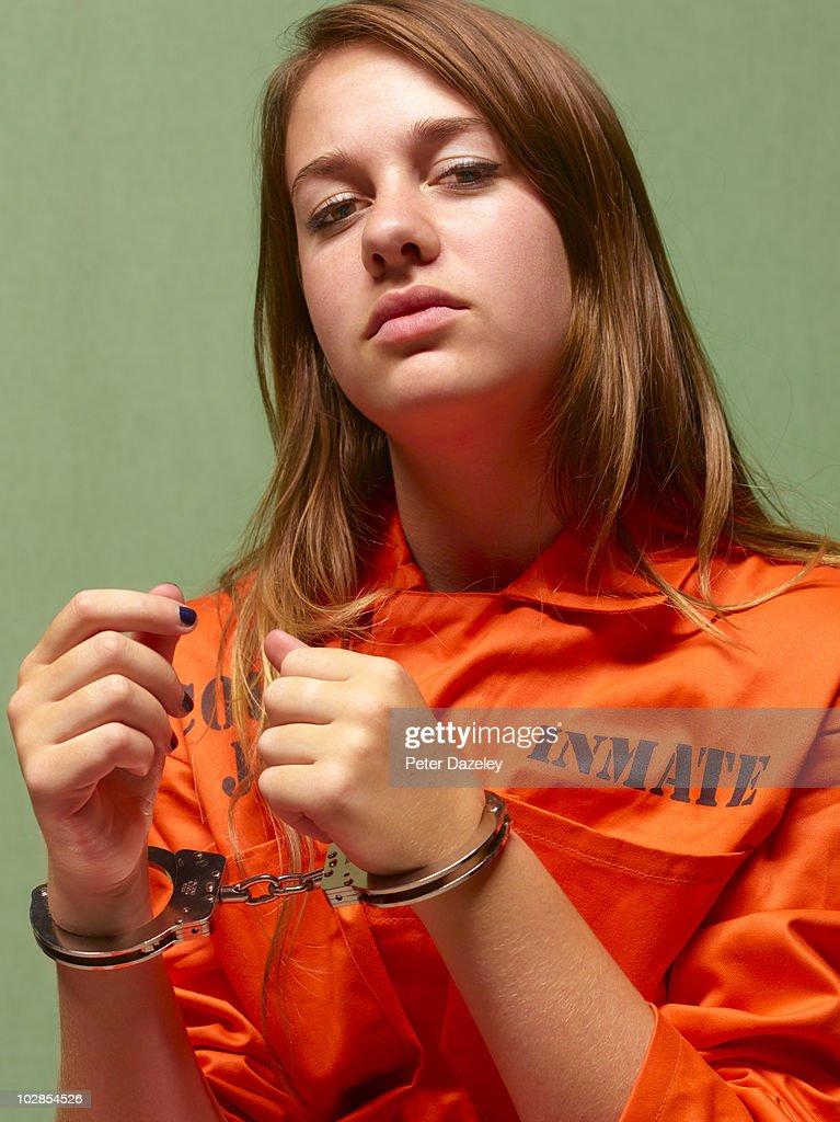 Juvenile girl in prison