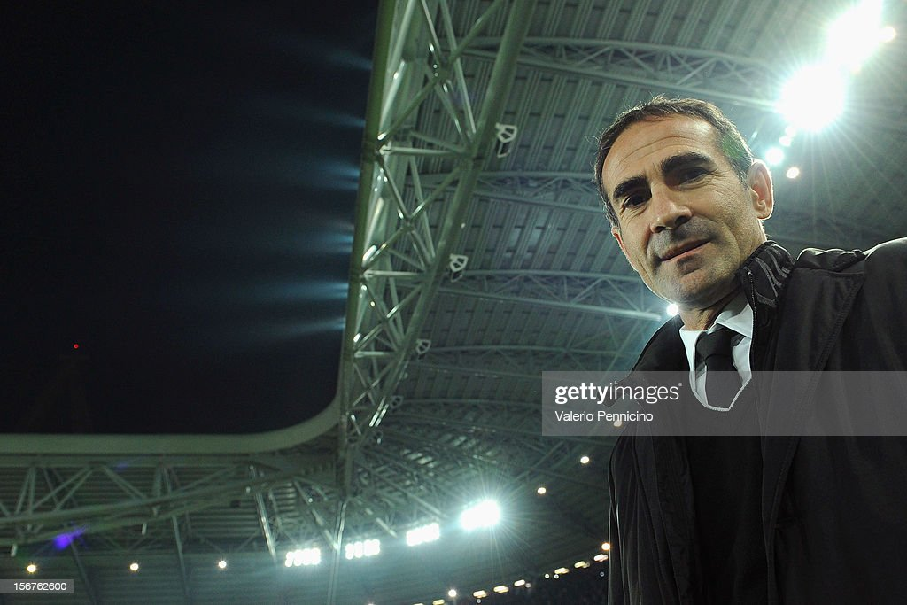 Juventus assistant coach Angelo Alessio looks on prior to the UEFA Champions League Group E match between Juventus and Chelsea FC at Juventus Arena on November 20, 2012 in Turin, Italy.