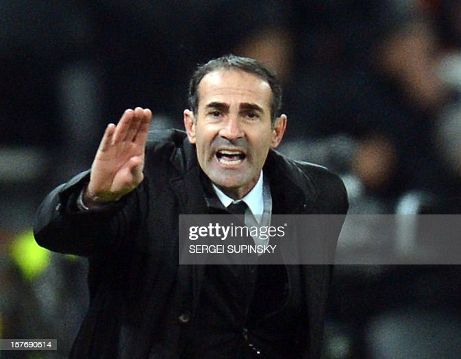 Juventus' assistant coach Angelo Alessio reacts during the UEFA Champions League, Group E, football match between FC Shakhtar and Juventus, in Donetsk on December 5, 2012. Juventus won 1-0.