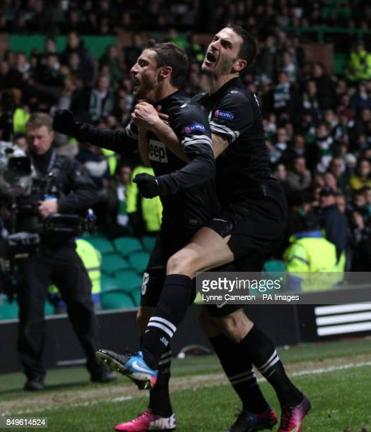 Juventus' Claudio Marchisio celebrates scoring during the UEFA Champions League Round of Sixteen match at Celtic Park Glasgow