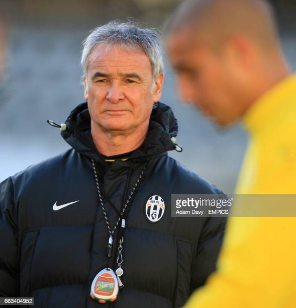 Juventus' Coach Claudio Ranieri watches training