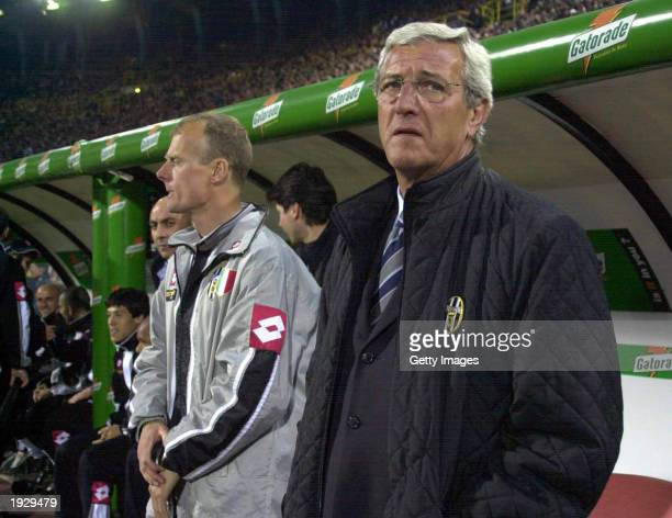 Juventus coach Marcelo Lippi watches the action during the Serie A match between Bologna and Juventus played at the Renato Dall'Arra Stadium Bologna...