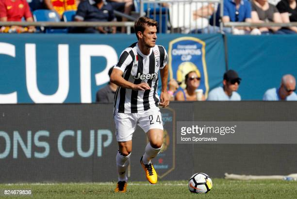 Juventus defender Daniele Rugani during an International Champions Cup match between AS Roma and Juventus on July 30 at Gillette Stadium in...