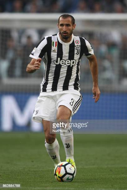 Juventus defender Giorgio Chiellini in action during the Serie A football match n8 JUVENTUS LAZIO on at the Allianz Stadium in Turin Italy