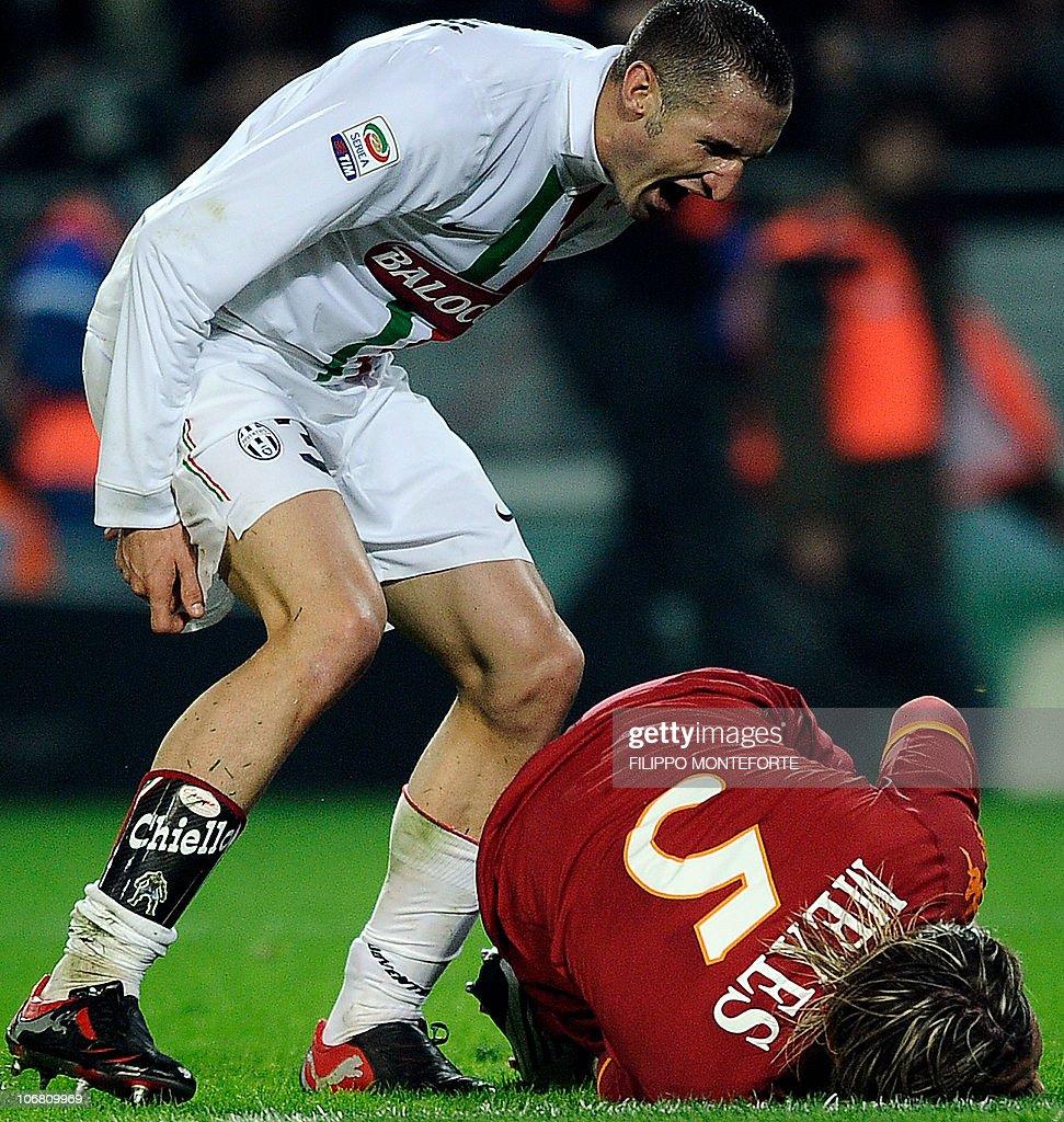Juventus defender Giorgio Chiellini sho