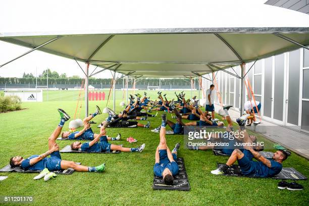 Juventus during a training session on July 9 2017 in Vinovo Italy