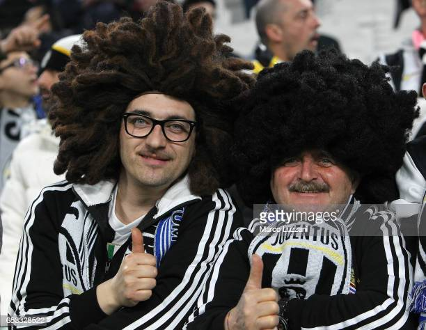 Juventus fans before the UEFA Champions League Round of 16 second leg match between Juventus and FC Porto at Juventus Stadium on March 14 2017 in...