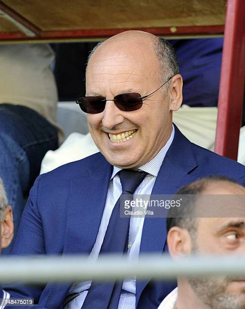 Juventus FC DG Giuseppe Marotta during a preseason friendly match between Juventus FC and Aygreville on July 17 2012 in Sain Vincent near Aosta Italy