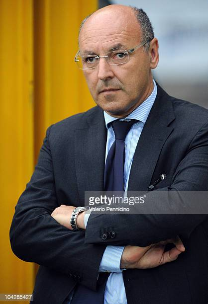 Juventus FC general manager Beppe Marotta looks on prior to the UEFA Europa League group A match Juventus FC and KKS Lech Poznan at Olimpico Stadium...