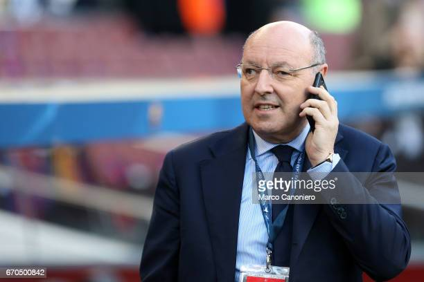 Juventus FC general manager Giuseppe Marotta before the UEFA Champions League quarter final second leg match between Fc Barcelona and Juventus FC The...