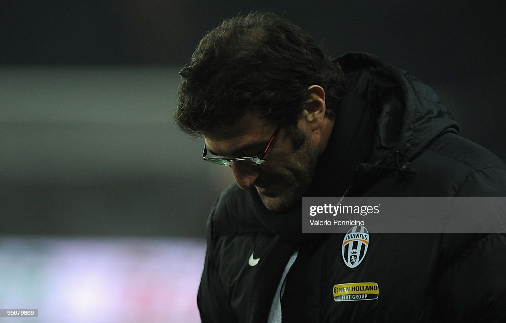 Juventus FC head coach Ciro Ferrara looks and shows his dejection after the Serie A match between Juventus FC and AC Milan at Stadio Olimpico di Torino on January 10, 2010 in Turin, Italy.