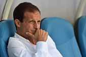 Juventus FC head coach Massimiliano Allegri looks on prior to the preseason friendly match between Olympique de Marseille and Juventus FC at Stade...