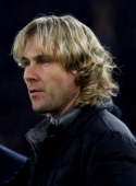 Juventus FC Team Manager Pavel Nedved looks on during the TIM Cup match between AS Roma and Juventus FC at Olimpico Stadium on January 21 2014 in...