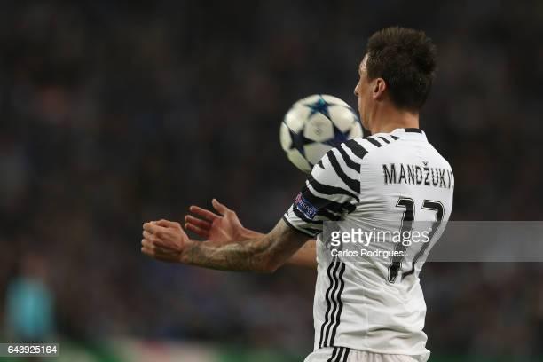 Juventus' forward Mario Mandzukic from Croacia during the match between FC Porto v Juventus UEFA Champions League Round of 16 First Leg match at...
