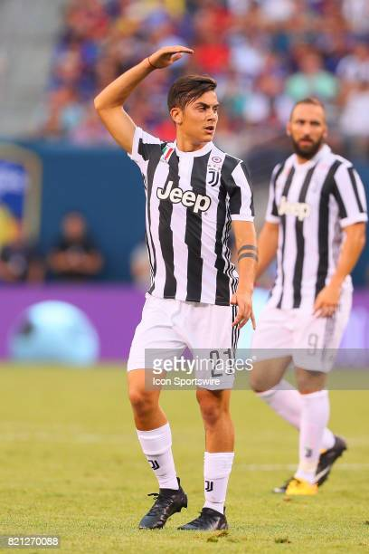 Juventus forward Paulo Dybala during the second half of the International Champions Cup soccer game between Barcelona and Juventus on July 22 at Met...