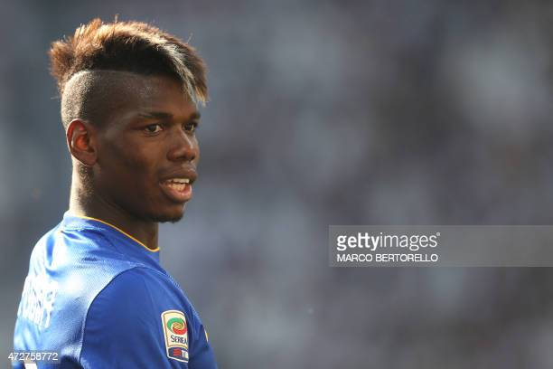 Juventus' French midfielder Paul Pogba is pictured during the Italian Serie A football match Juventus vs Cagliari on May 9 2015 at the 'Juventus...