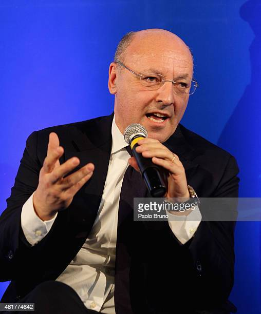 Juventus General Director Giuseppe Marotta attends the Italian Football Federation Hall of Fame Award ceremony at Palazzo Vecchio on January 19 2015...