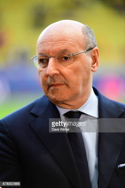 Juventus general manager Giuseppe Marotta before the Uefa Champions League match semi final first leg between As Monaco and Juventus FC at Stade...