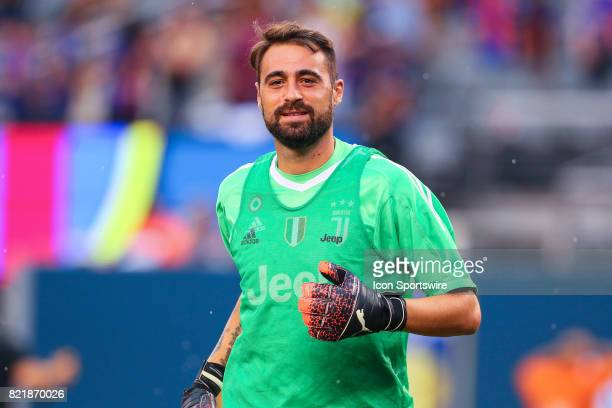 Juventus goalkeeper Carlo Pinsoglio during halftime of the International Champions Cup soccer game between Barcelona and Juventus on July 22 at Met...