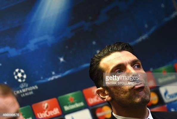 Juventus 39 Goalkeeper Gianluigi Buffon Addresses A Press