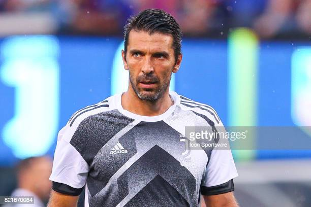 Juventus goalkeeper Gianluigi Buffon during halftime of the International Champions Cup soccer game between Barcelona and Juventus on July 22 at Met...