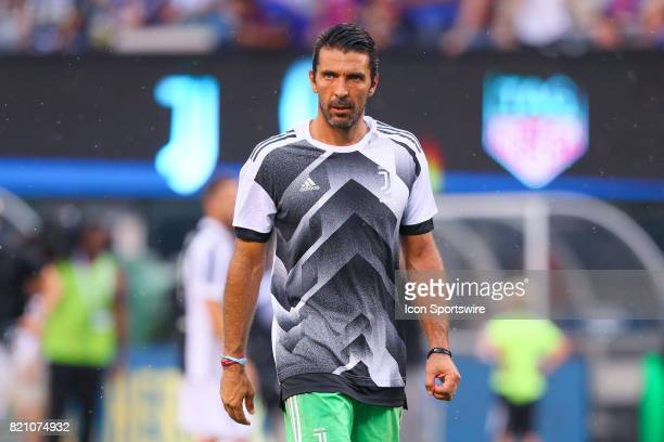 Juventus goalkeeper Gianluigi Buffon prior to the second half of the International Champions Cup soccer game between Barcelona and Juventus on July...