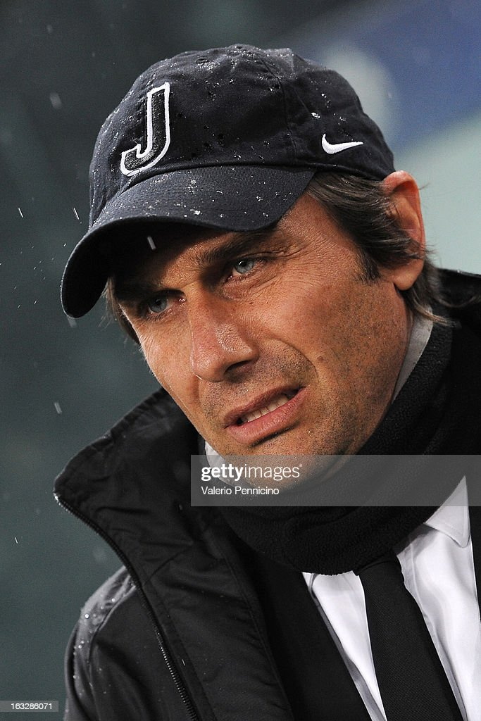 Juventus head coach Antonio Conte looks on prior to the UEFA Champions League round of 16 second leg match between Juventus and Celtic at Juventus Arena on March 6, 2013 in Turin, Italy.
