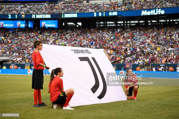 Juventus logo before the International Champions Cup match between Juventus and Barcelona at MetLife Stadium on July 22 2017 in East Rutherford New...