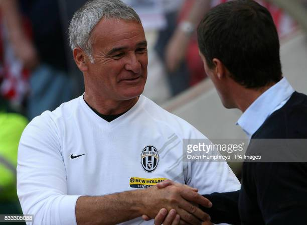 Juventus manager Claudio Ranieri and Sunderland manager Roy Keane during a Pre Season Friendly at the Stadium of Light Sunderland