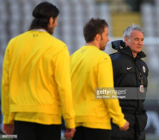 Juventus Manager Claudio Ranieri during a training session at the Stadio Olimpico Turin