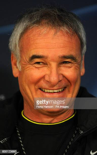 Juventus manager Claudio Ranieri during the press conference at Stamford Bridge London