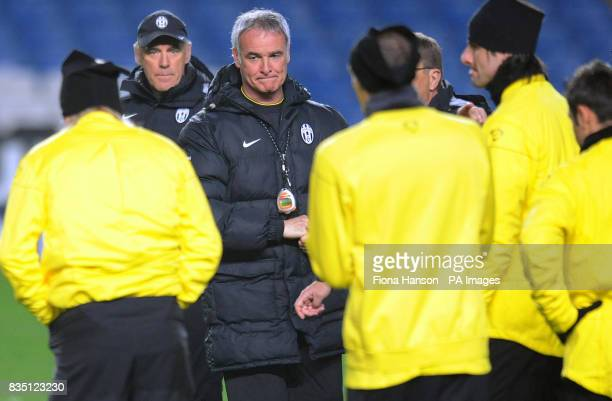 Juventus manager Claudio Ranieri during the training session at Stamford Bridge London