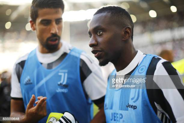 Juventus' midfielder Blaise Matuidi from France looks on before the Italian Serie A football match Juventus Vs Cagliari on August 19 2017 at the...