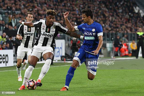 Juventus midfielder Mario Lemina fights for the ball against Udinese defender Felipe during the Serie A football match n8 JUVENTUS UDINESE on at the...