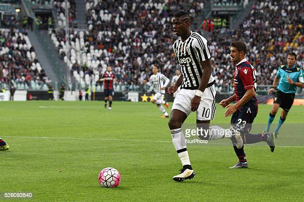 Juventus midfielder Paul Pogba in action during the Serie A football match n7 JUVENTUS BOLOGNA on 04/10/15 at the Juventus Stadium in Turin Italy...