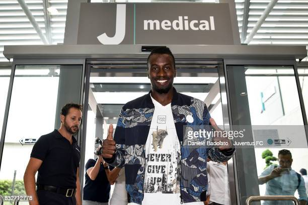 Juventus New Signing Blaise Matuidi attends medical tests on August 16 2017 in Turin Italy