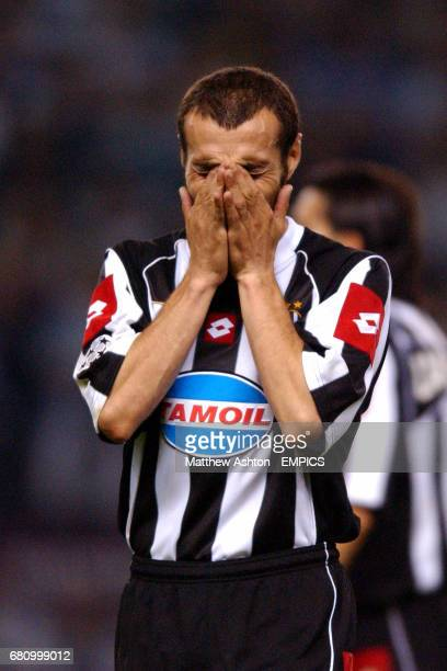 Juventus' Paolo Montero is dejected after losing to AC Milan