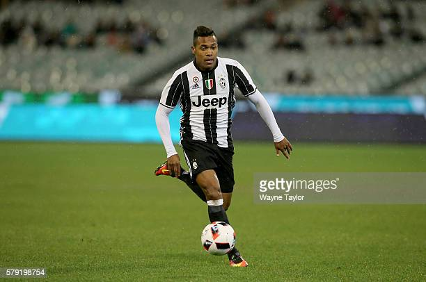 Juventus player Alex Sandro during the 2016 International Champions Cup Australia match between Melbourne Victory FC and Juventus FC at Melbourne...