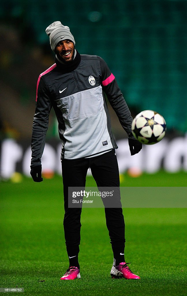Juventus player Nicolas Anelka in action during the Juventus training session at Celtic Park on February 11, 2013 in Glasgow, Scotland.