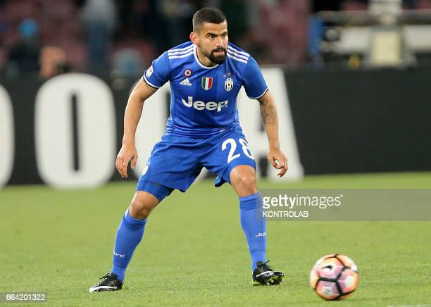 Juventus' player Tomas Rincon during the Italian Serie A football match between SSC Napoli and FC Juventus at San Paolo Stadium in Naples on April