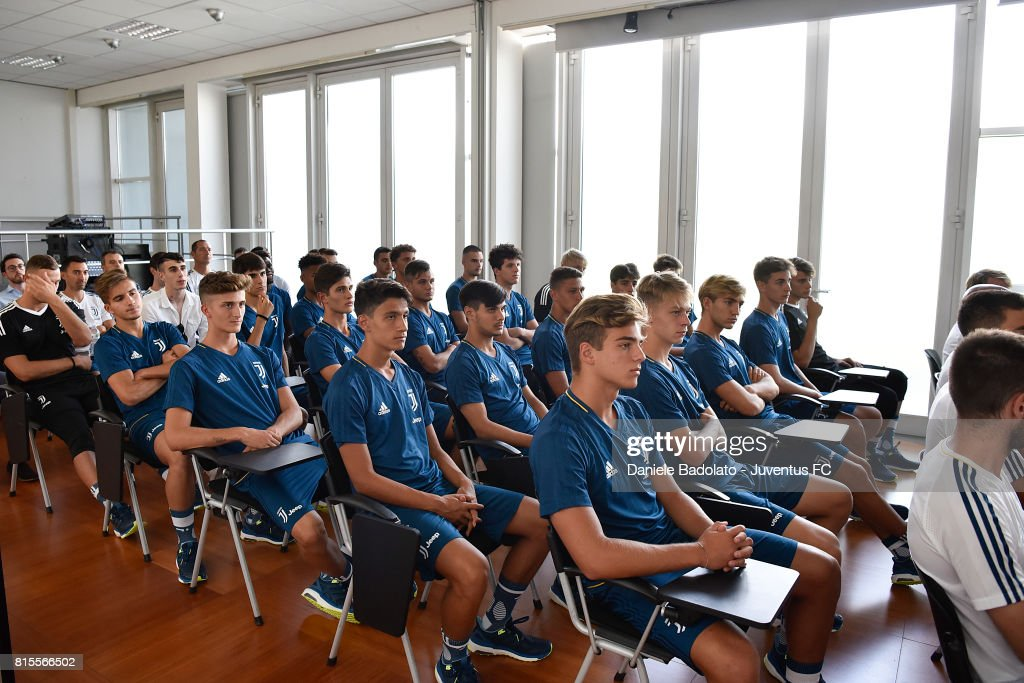 Juventus Primavera during a training session on July 16, 2017 in Vinovo, Italy.