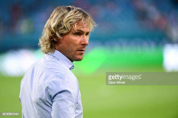 Juventus sporting director Pavel Nedved during the International Champions Cup match between Paris Saint Germain and Juventus Turin at Hard Rock...